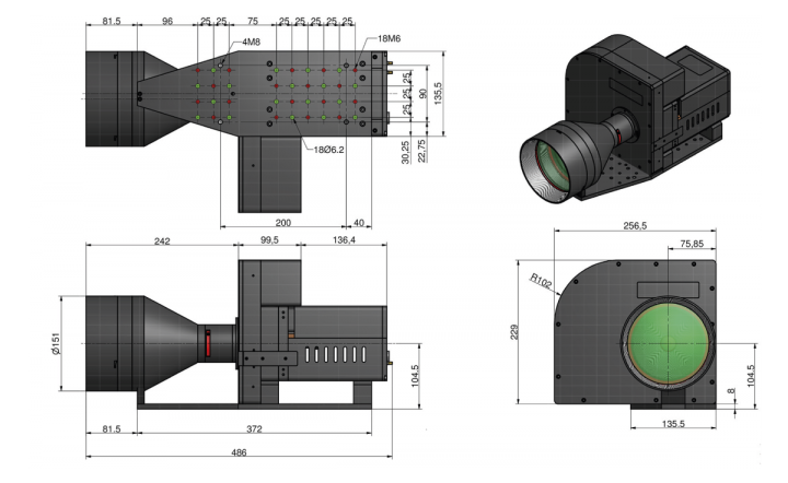 TTO Lense Outer dimensions